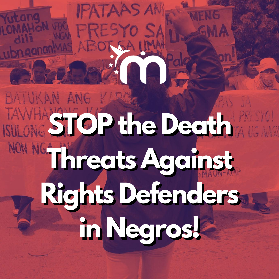 STOP the Death Threats Against Rights Defenders in Negros!