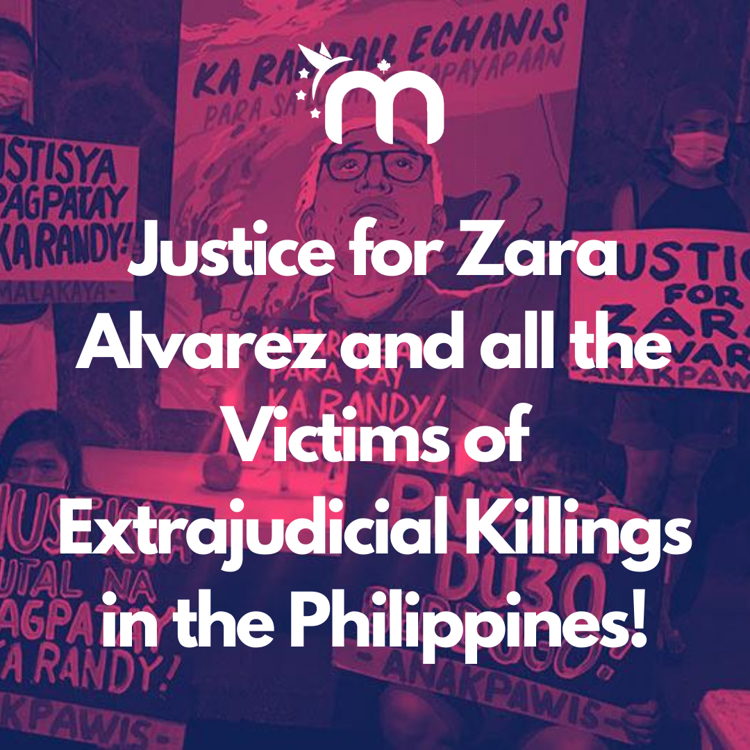 Justice for Zara Alvarez and all the Victims of Extrajudicial Killings in the Philippines!