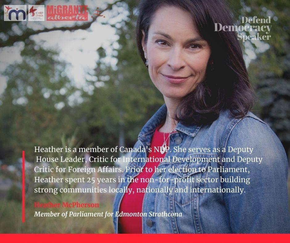 Defend Democracy - Heather McPherson