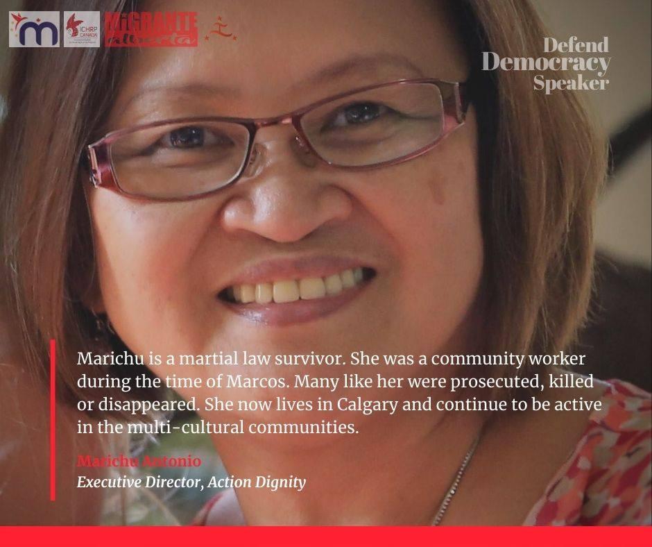 Defend Democracy - Marichu Antonio