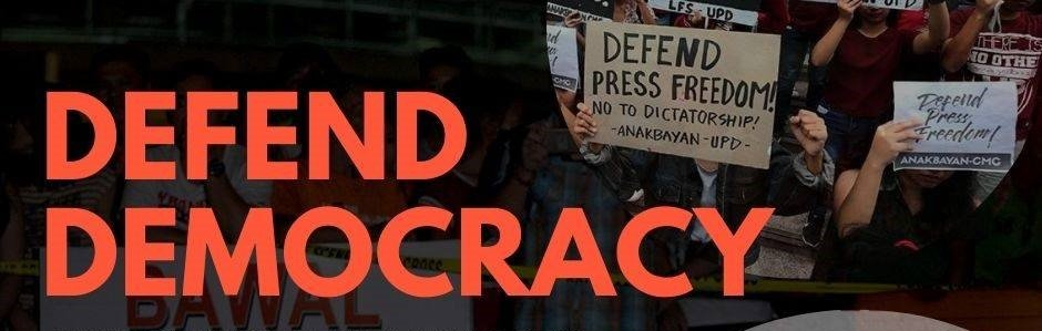Defend Democracy banner