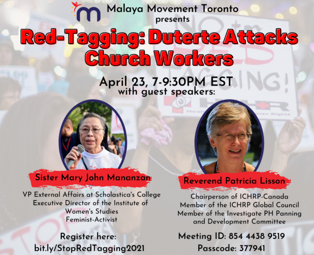 Poster: Red-Tagging: Duterte's Attacks on Church Workers